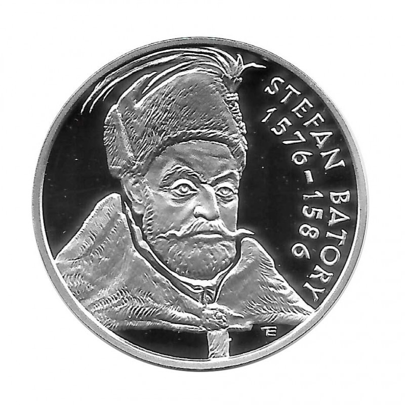 Silver Coin 10 Złotych Poland Stefan Batory Year 1997 Proof    Collectible Coins - Alotcoins