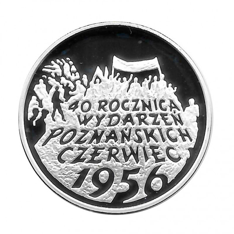 Silver Coin 10 Złotych Poland Poznań- June 1956 Year 1996 Proof  | Collectible Coins - Alotcoins