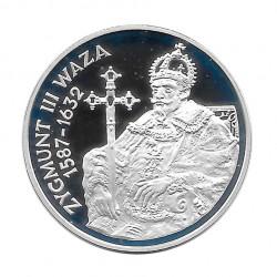 Moneda de plata 10 Zlotys Polonia Segismundo III Vasa Año 1998 Proof | Monedas de colección - Alotcoins