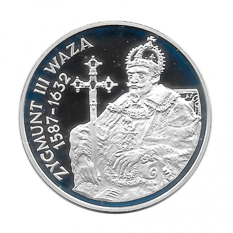 Silbermünze 10 Złote Polen Zygmunt III Waza Jahr 1998 Polierte Platte PP | Gedenkmünzen - Alotcoins