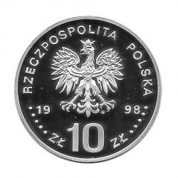 Moneda de plata 10 Zlotys Polonia Segismundo III Vasa Año 1998 Proof | Numismática española - Alotcoins