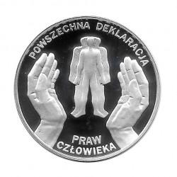 Moneda de plata 10 Zlotys Polonia Declaración Universal Derechos Humanos Año 1998 Proof | Monedas de colección - Alotcoins