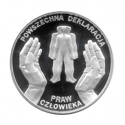 Silver Coin 10 Złotych Poland Universal Declaration of Human Rights Year 1998 Proof  | Collectible Coins - Alotcoins