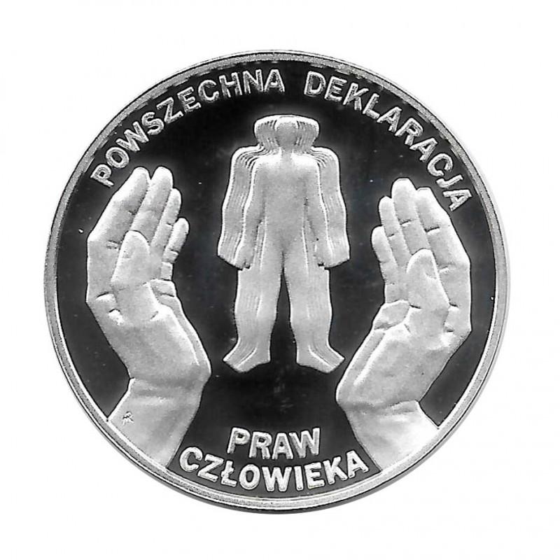 Silbermünze 10 Złote Polen Allgemeine Erklärung der Menschenrechte Jahr 1998 Polierte Platte PP | Gedenkmünzen - Alotcoins