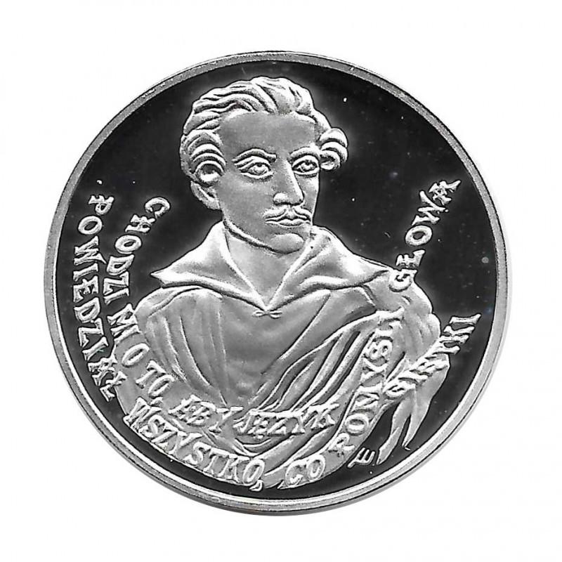 Moneda de plata 10 Zlotys Polonia Juliusz Słowacki Año 1999 Proof | Monedas de colección - Alotcoins