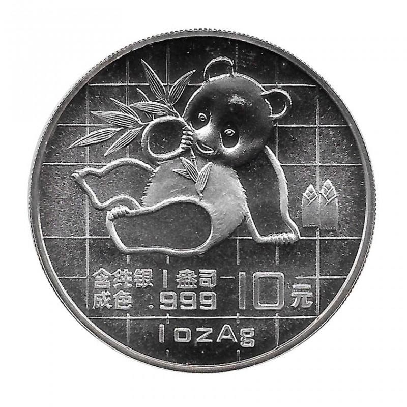 Münze China  Jahr 1989 Silber 10 Yuan Baby Panda auf Gitterhintergrund Proof