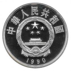 Silbermünze 5 Yuan China Li ShiZhen Links Jahr 1990 Polierte Platte PP | Gedenkmünzen - Alotcoins