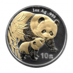 Coin China Year 2004 10 Yuan Panda Silver and Gold Proof
