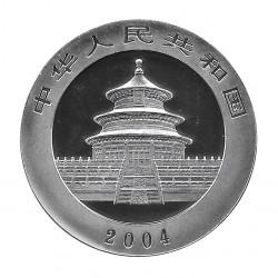 Coin China Year 2004 10 Yuan Panda Silver and Gold Proof