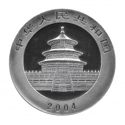 Moneda China Año 2004 Panda Plata y oro 10 Yuan