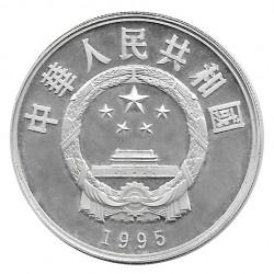 Silbermünze 5 Yuan China Kamel Jahr 1995 Unzirkuliert UNZ | Gedenkmünzen - Alotcoins