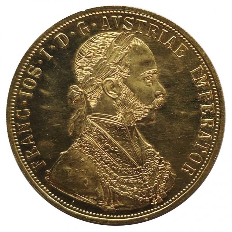 Goldmünze von 4 dukaten Österreich Franz Joseph I 13,96 g Jahr 1915 Gedenkmünzen | Sammermünzen - Alotcoins