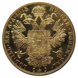 Gold Coin of 4 ducats Austria Franz Joseph I 13.96 g Year 1915 | Numismatics Store - Alotcoins