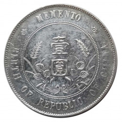 Silver Coin 1 Dollar China Memento: Birth of the Republic Year 1927 | Numismatics Shop - Alotcoins