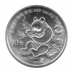 Münze China 10 Yuan Jahr 1991 Panda Silber Proof