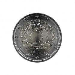 Gedenkmünze 2 Euro Österreich 30 Jahre EU-Flagge Jahr 2015 Unzirkuliert UNZ | Numismatik Store - Alotcoins