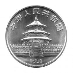 Moneda China 10 Yuan Año 1991 Panda Plata Proof