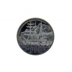 Moneda de plata 20 euros Austria Almirante Tegetthoff Año 2005 Proof | Numismática española - Alotcoins