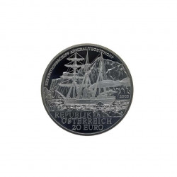 Silver coin of 20 euros Austria Admiral Tegetthoff Year 2005 Proof | Numismatics Shop - Alotcoins