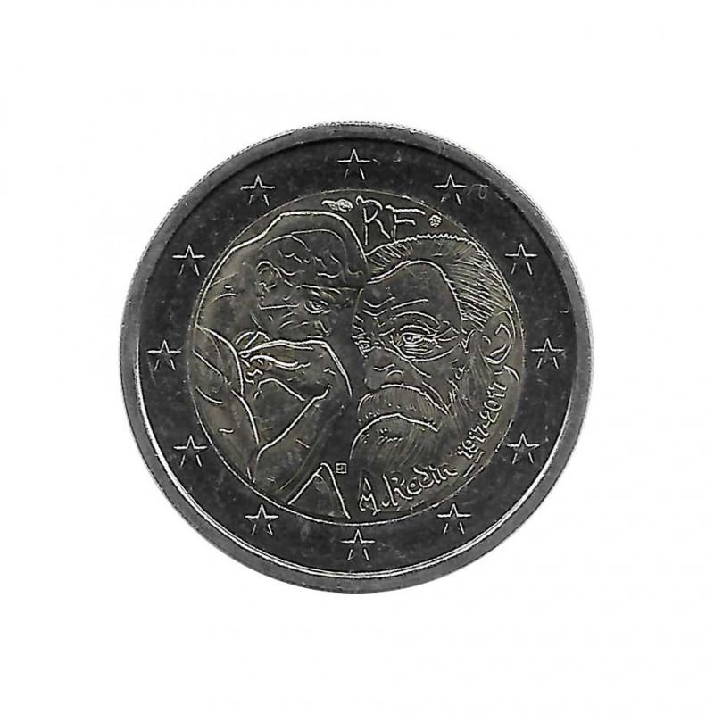 Gedenkmünze 2 Euro Frankreich Auguste Rodin Jahr 2017 Unzirkuliert UNZ | Euromünzen - Alotcoins