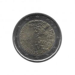Gedenkmünze 2 Euro Finnland Jean Sibelius Jahr 2015 Unzirkuliert UNZ | Euromünzen - Alotcoins