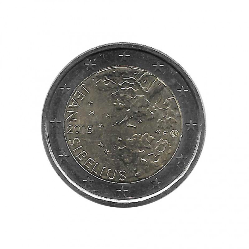 Moneda 2 Euros Conmemorativa Finlandia Jean Sibelius Año 2015 Sin circular SC | Monedas de colección - Alotcoins