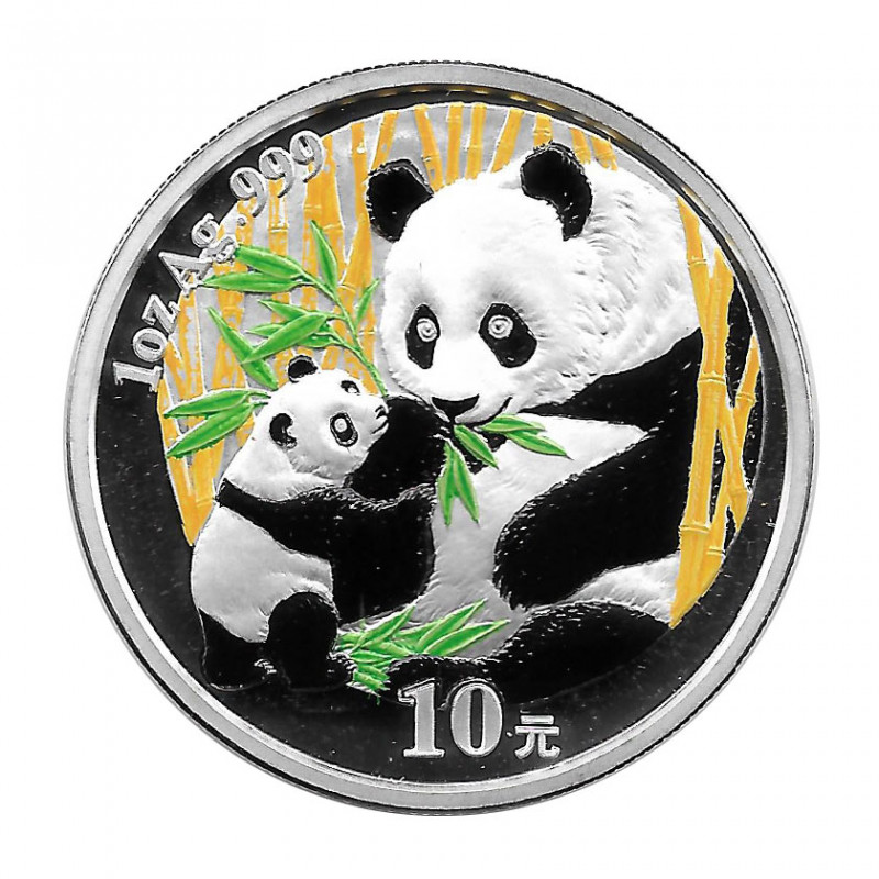 Coin China 10 Yuan Year 2005 Silver Multicolor Panda Proof