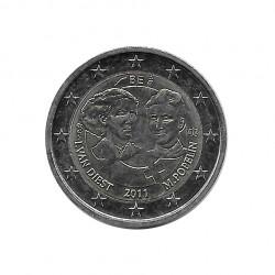 Gedenkmünze 2 Euro Belgien Frauentag Jahr 2011 Unzirkuliert UNZ | Euromünzen - Alotcoins