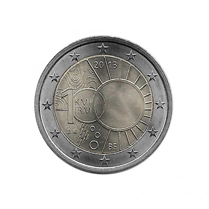Commemorative Coin 2 Euros Belgium Royal Meteorological Institute Year 2013 Uncirculated UNC | Collectible coins - Alotcoins