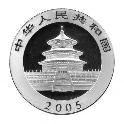 Moneda China 10 Yuan Año 2005 Plata Panda Multicolor Proof