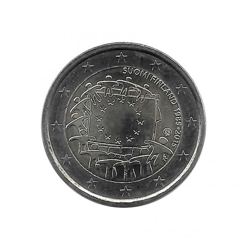 Gedenkmünze 2 Euro Finnland 30 Jahre EU-Flagge Jahr 2015 Unzirkuliert UNZ | Euromünzen - Alotcoins