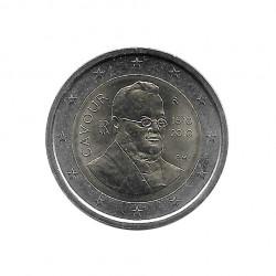 Gedenkmünze 2 Euro Italien Graf von Cavour Jahr 2010 Unzirkuliert UNZ | Euromünzen - Alotcoins