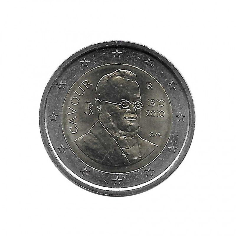 Commemorative 2 Euros Coin Italy Count of Cavour Year 2010 Uncirculated UNC | Collectible coins - Alotcoins