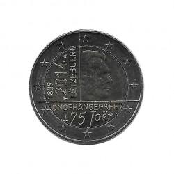Moneda 2 Euros Conmemorativa Luxemburgo 175 años de la nación Año 2014 Sin circular SC | Monedas de colección - Alotcoins