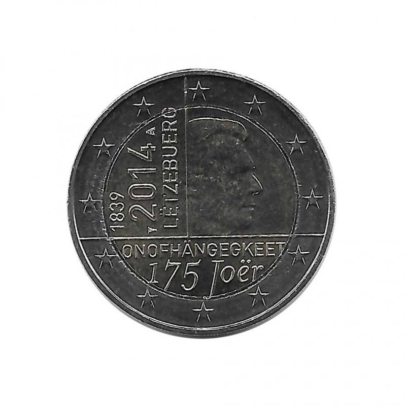 Moneda 2 Euros Conmemorativa Luxemburgo 175 años de la nación Año 2014 Sin circular SC   Monedas de colección - Alotcoins
