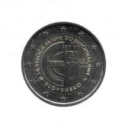 Gedenkmünze 2 Euro Slowakei Beitritt Europäische Union Jahr 2014 Unzirkuliert UNZ | Gedenkmünzen Sammlermünzen - Alotcoins