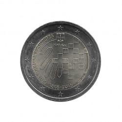 Gedenkmünze 2 Euro Portugal Rotes Kreuz Jahr 2015 Unzirkuliert UNZ | Euromünzen - Alotcoins