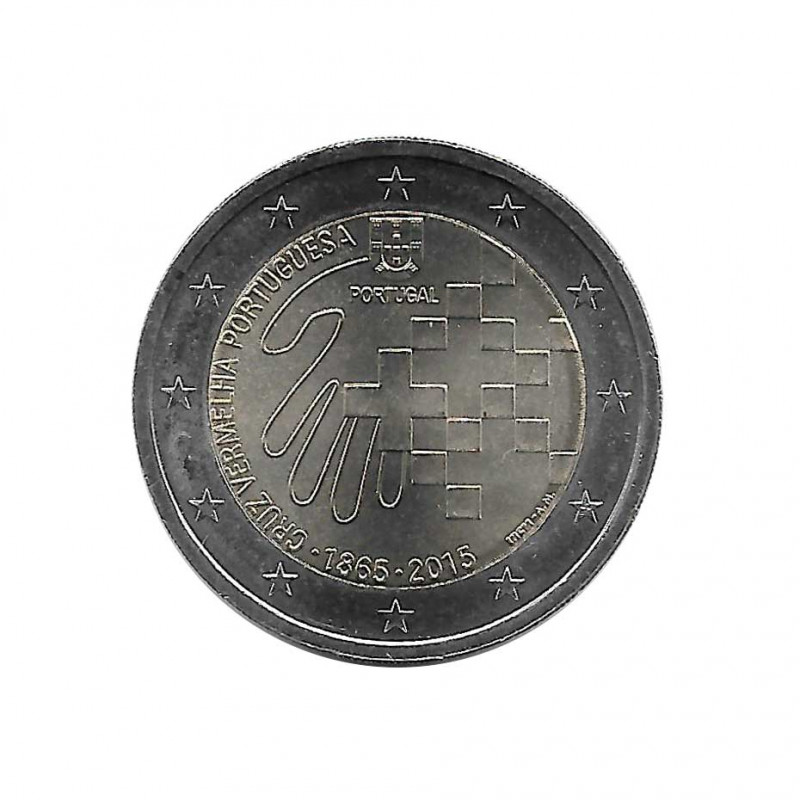 Commemorative Coin 2 Euros Portugal Red Cross Year 2015 Uncirculated UNC | Collectible coins - Alotcoins