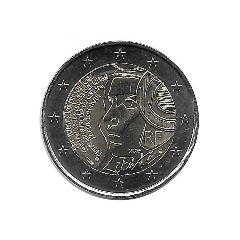 Moneda 2 Euros Conmemorativa Francia Festival de la Federación Año 2015 Sin circular SC | Monedas de colección - Alotcoins