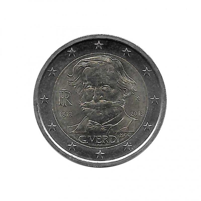 Commemorative 2 Euros Coin Italy Giuseppe Verdi Year 2013 Uncirculated UNC   Collectible coins - Alotcoins