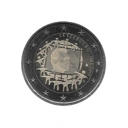 Commemorative Coin 2 Euros Luxembourg EU Flag Year 2015 Uncirculated UNC | Collectible coins - Alotcoins