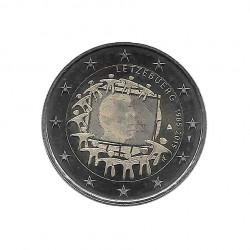 Gedenkmünze 2 Euro Luxemburg 30 Jahre EU-Flagge Jahr 2015 Unzirkuliert UNZ | Euromünzen - Alotcoins