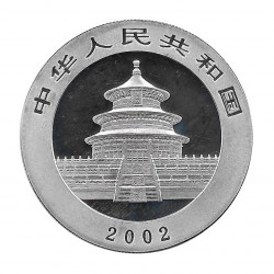 Coin China 10 Yuan Year 2002 Silver Multicolor Panda Proof