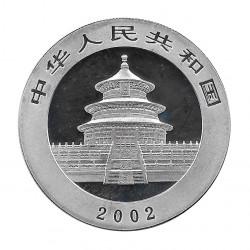 Moneda China 10 Yuan Año 2002 Plata Panda Multicolor Proof
