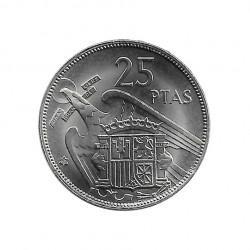 Coin 25 Pesetas Spain General Franco Year 1957 Star 69 Uncirculated UNC   Collectible coins - Alotcoins