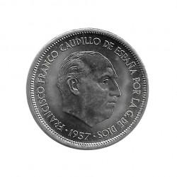 Gedenkmünze 25 Peseten Spanien General Franco Jahr 1957 Stern 69 Unzirkuliert UNZ | Numismatik shop - Alotcoins