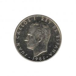 Moneda 100 Pesetas España Rey Juan Carlos I Año 1986 Sin circular SC | Numismática española - Alotcoins