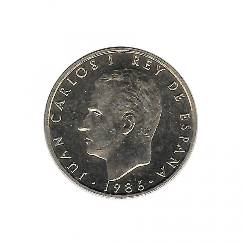 Coin 100 Pesetas Spain King Juan Carlos I Year 1986 Uncirculated UNC | Collectible coins - Alotcoins