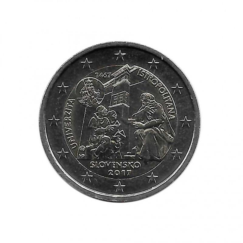 Euromünze 2 Euro Slowakei Universität Istropolitana Jahr 2017 Unzirkuliert UNZ | Gedenkmünzen Sammlermünzen - Alotcoins