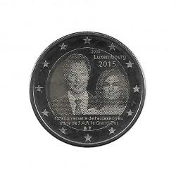 Gedenkmünze 2 Euro Luxemburg Henri Beitritt Jahr 2015 Unzirkuliert UNZ | Euromünzen - Alotcoins